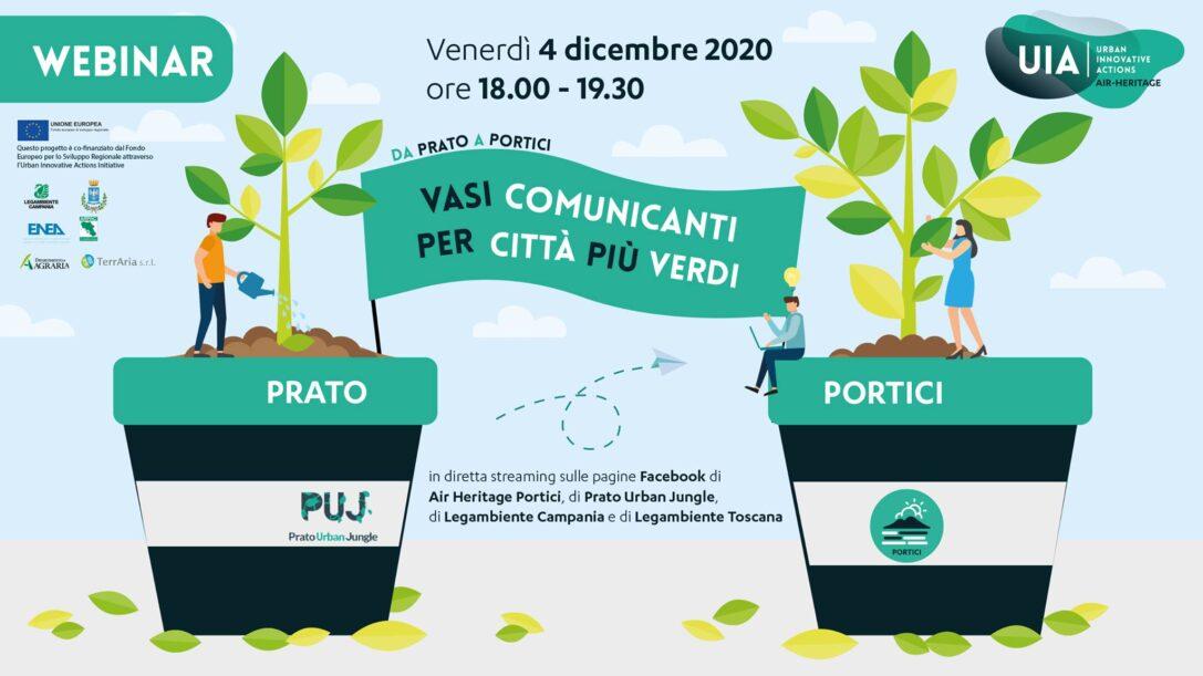 """""""Da Prato a Portici – Vasi comunicanti per città più verdi"""": partecipa al webinar sulla forestazione urbana"""