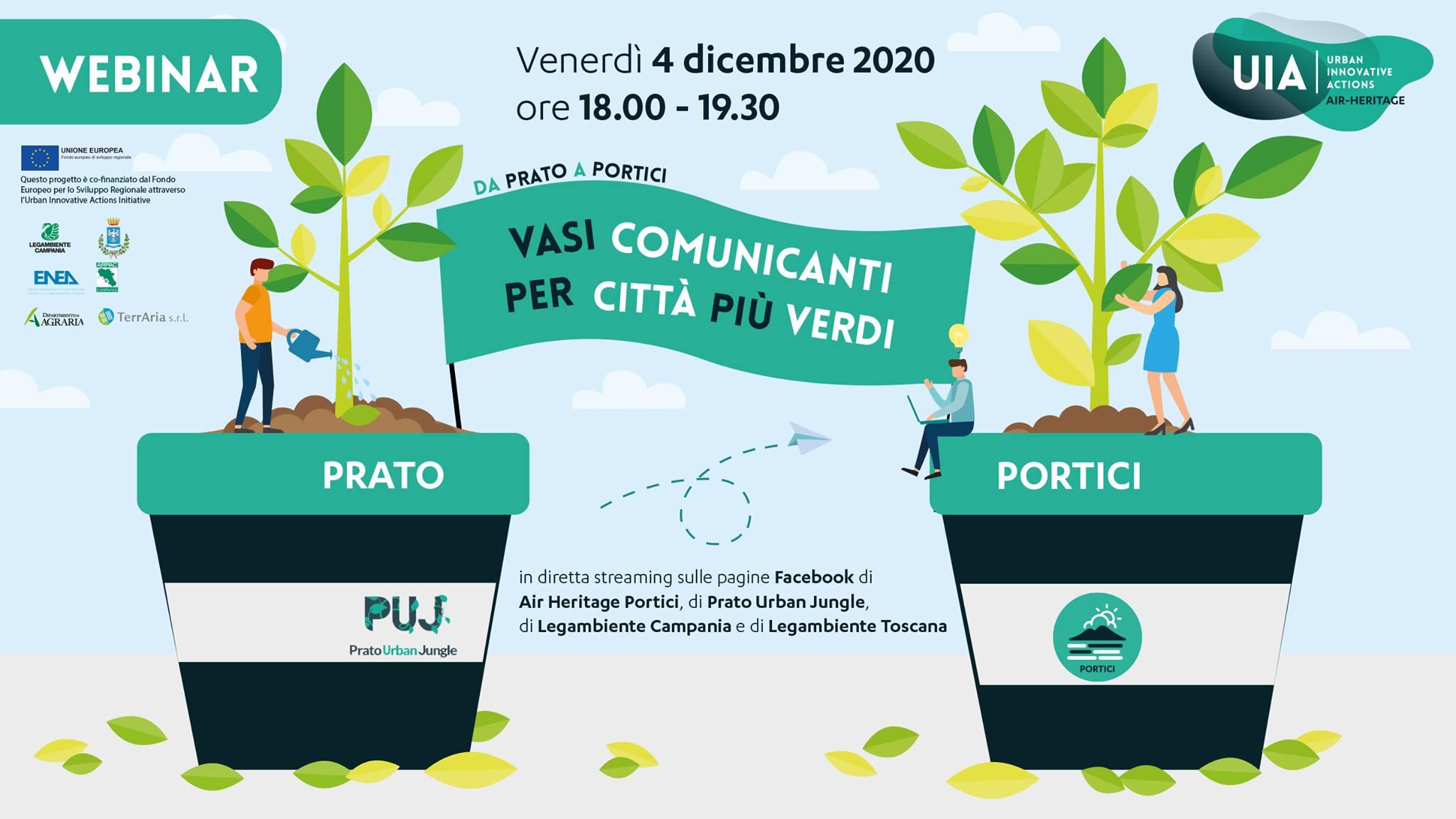 """Air Heritage ospita l'esperienza Prato Urban Jungle nel webinar sulla forestazione urbana """"Da Prato a Portici – Vasi comunicanti per città più verdi"""""""