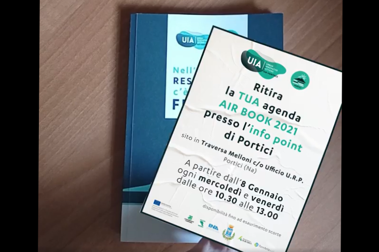 Air Heritage ha un regalo per i cittadini di Portici: l'agenda Air Book 2021