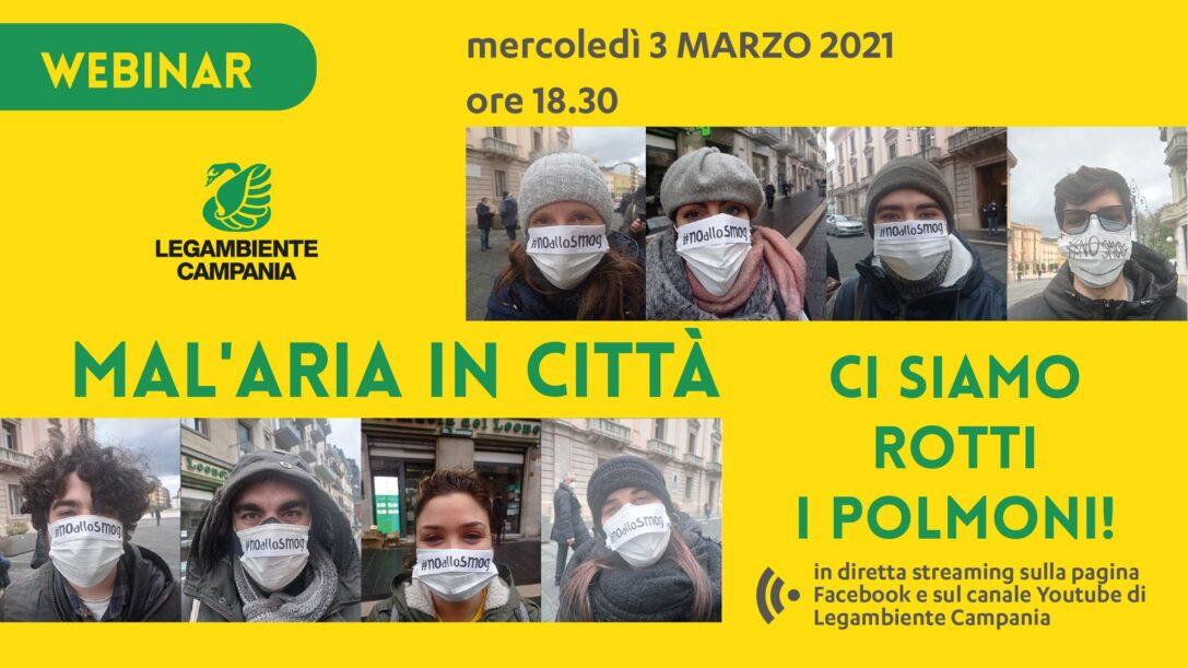 """""""Ci siamo rotti i polmoni"""": durante il webinar sul dossier Mal'Aria 2021, un focus su Air Heritage"""