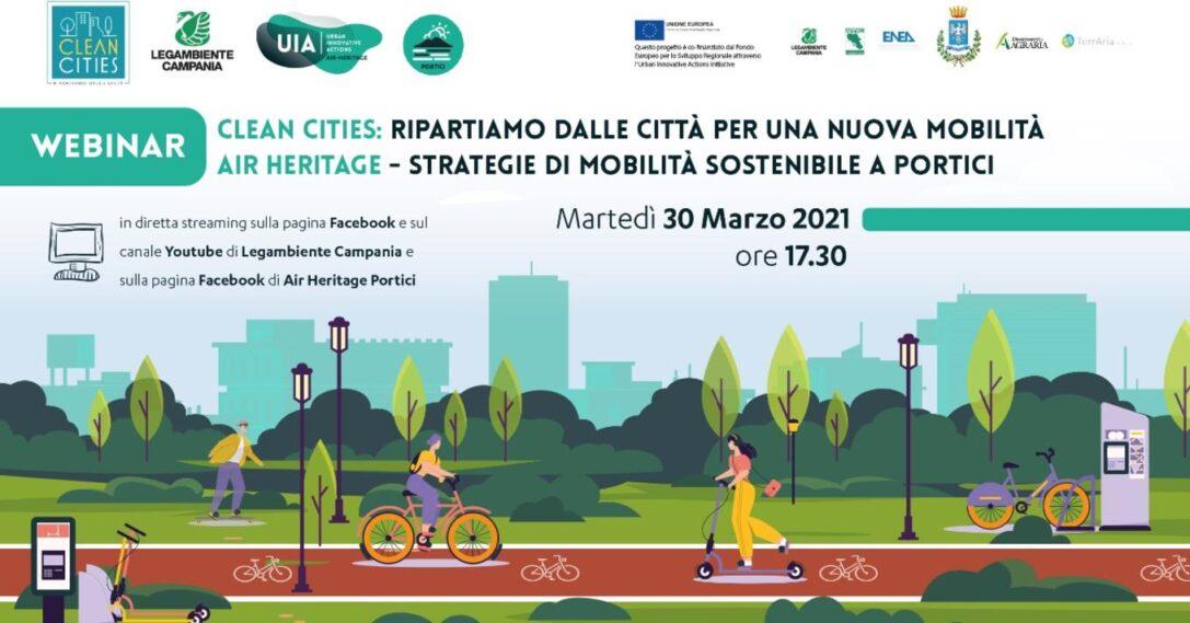 Ripartiamo dalle città per una nuova mobilità – Strategie di mobilità sostenibile a Portici: segui il webinar